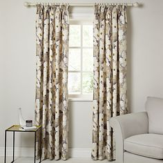 Harlequin Giverney Lined Pencil Pleat Curtains, Yellow / Neutral - just bought for the study!