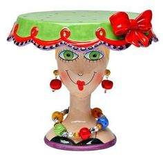 Look at this Sugar High Social Lady Small Cake Stand on today! Arte Peculiar, Cake Carrier, Cakes For Women, Small Cake, Paperclay, Cake Plates, Cake Tray, Cute Cakes, Eat Cake