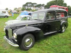 Humber Pullman hearse at Harmans Cross classic car show