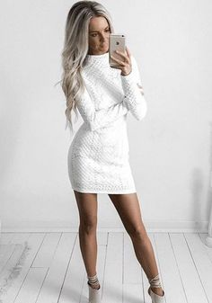 white cable dress chic outfit ideas Kirsty Fleming