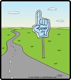 Cartertoons.com: #1 Highway Sign Cartoon