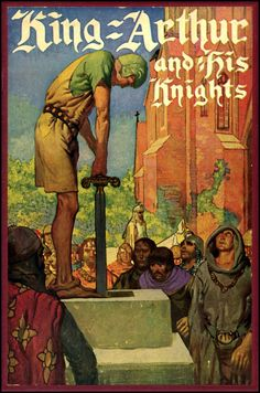 The Golden Age.  Frank Godwin. Interesting image, as it shows the ancient Celtic custom of standing on stone to be 'crowned' a king. The sword in the stone story preserves this Celtic tradition of king making, as Arthur stood on a stone to be made king of the Silures in The Silurian (Book4 hunters and killers)