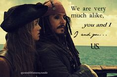 Pirates of the Caribbean, Jack and Lizzy forever! Jack Sparrow. Elizabeth Swann.