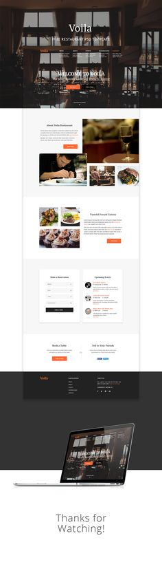 This web template is also part of my 52 week design challenge, it is the third one to be specific. The concept is about a fine restaurant It features sections like events, booking reservations, about, gallery and few more. Feel free to download it and u…