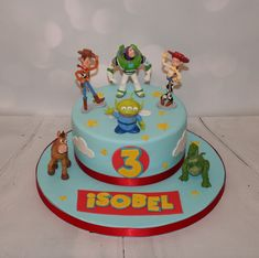 Toy Story favourite characters - Toys for years old happy toys Toy Story Birthday Cake, 3rd Birthday Cakes, 4th Birthday Parties, Birthday Bash, Birthday Party Decorations, Craft Party, Birthday Ideas, Bolo Toy Story, Toy Story Cakes