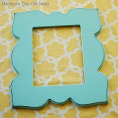 how to distress wood using paint. #craft love funky frames!