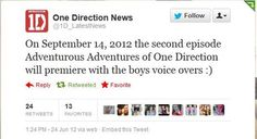 Adventurous Adventures of One Direction: second episode with the boys' voice overs premiere date! *DEAD*
