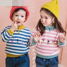 Girls Sweatshirts 2017 Fashion Baby Girl Boys Striped Cotton Tee Shirt Kids Children Autumn Tops //Price: $111.75 // #baby