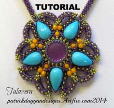 TALAVERA - TUTORIAL - for a unique centrepiece pendant design | patrickduggandesigns - Jewelry on ArtFire
