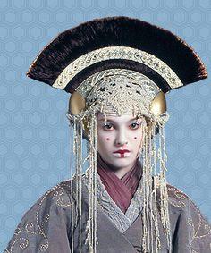 Queen Amidala's Coruscant Pre-Senate Costume & Headdress