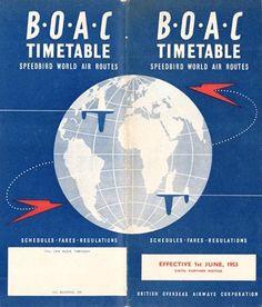 B.O.A.C timetable