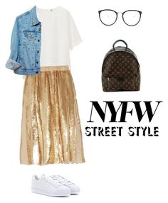 """""""NYFW"""" by alexandralooks ❤ liked on Polyvore featuring Uniqlo, TIBI, High Heels Suicide, adidas, Louis Vuitton, Linda Farrow, StreetStyle and NYFW"""