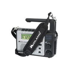 Midland XT511 Base Camp Two Way / Emergency Crank Radio Emergency Radio, Emergency Preparedness, Channel 22, Call Tone, Noaa Weather Radio, Keypad Lock, Weather Alerts, Two Way Radio
