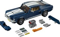 Official announcement & photos of LEGO 10265 Ford Mustang, the 2019 Creator Expert vehicle. This scale model pays homage to the iconic 1967 Ford Mustang. Ford Mustang Fastback, Ford Mustangs, Ford Mustang 1960, Ford Mustang Models, Mustang Logo, Mustang Cars, Radios, 60s Muscle Cars, American Muscle Cars
