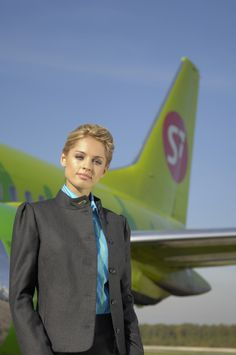 Cabin crew at Russian Airline S7