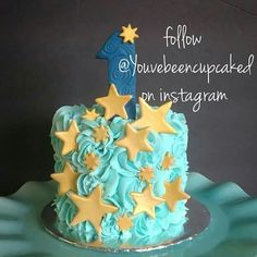 Twinkle little star (perfect smash cake idea) by You've Been Cupcaked