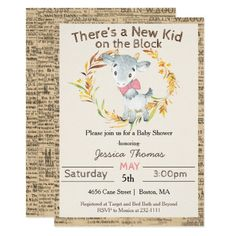 Shop Farm Goat Girl Baby Shower Invitation created by SugSpc_Invitations. Baby Shower Invites For Girl, Girl Shower, Baby Shower Themes, Baby Shower Decorations, Baby Shower Invitations, Custom Invitations, Shower Ideas, Safari Theme Nursery, Baby Blocks