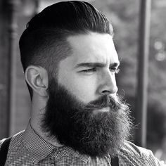 Chris John Millington - full thick bushy dark beard and mustache beards bearded man men hairstyle hair cut #goodhair #beardsforever