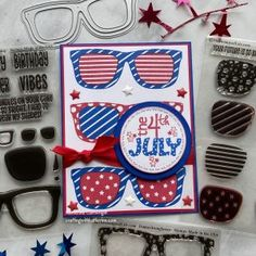 4th Of July Fireworks, Fourth Of July, Colorful Birthday Cake, Shaker Cards, Card Maker, Homemade Cards, Stampin Up Cards, Cardmaking, Holiday Cards