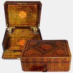 Antique French Napoleon III era Kingwood Veneer Parquetry Inlay Glove : The Antique Boutique ® French Antiques, Vintage Antiques, Antique Wooden Boxes, Crystal Perfume Bottles, Parquetry, Rare Antique, Glove, Art Decor