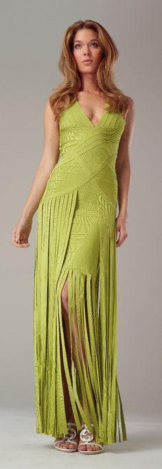 Alberto Makali Green Bandage Fringe Dress Fringe Dress, Giza, Swag Style, Green Dress, Fashion Outfits, Formal Dresses, Clothing, Dresses For Formal, Outfits