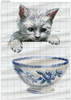 Peeking cat xstitch patt (pocket idea?)