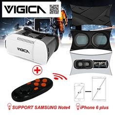 VIGICA Google Cardboard 4.7-6 inch for iPhone Android VR Box Virtual Reality Headset Video 3D Glasses Movie Game Plastic with Bluetooth Controller Gamepad QR Code Vr Box, 3d Video, 3d Glasses, Virtual Reality Headset, 6 Inches, Bluetooth, Coding, Iphone, Virtual Reality