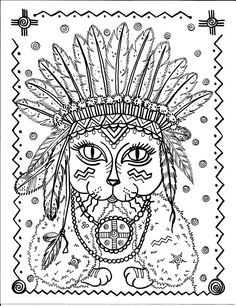 Indian Cat Abstract Doodle Zentangle Paisley Coloring pages colouring adult detailed advanced printable Kleuren voor volwassenen coloriage pour adulte anti-stress kleurplaat voor volwassenen https://www.facebook.com/848770148469936/photos/pb.848770148469936.-2207520000.1438815488./868076839872600/?type=3