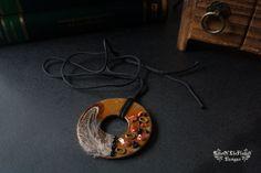 Mixed media round pendant - pinned by pin4etsy.com