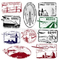 stamps around the world, we can use these to stamp the passports or as decoration