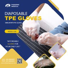 TPE Glove is similar to Vinyl Gloves,but are more affordable than Vinyl Gloves Medical Examination, Disposable Gloves, Latex Gloves, Sharp Objects, Household Cleaners, Food Industry, Health Care, Personal Care, Life