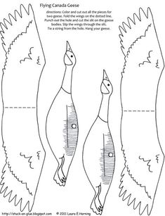Your Octopus a Paintbrush (or Printable: Flying Geese.Give Your Octopus a Paintbrush (or Printable: Flying Geese. Paper Birds, Fabric Birds, Goose Craft, Flapping Bird, Bird Template, Support Telephone, Bird Mobile, Scroll Saw Patterns Free, Wood Bird