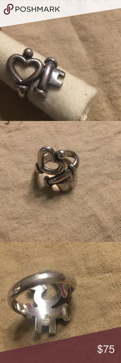 Key to my heart ring size 5 Sterling. James Avery. Normal wear James Avery Jewelry Rings