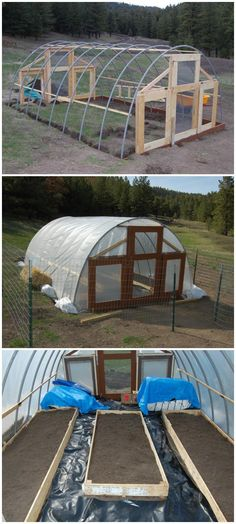 Cost-Efficient Self-Made Greenhouse - 80 DIY Greenhouse Ideas with Step-by-Step Tutorials - Page 2 of 7 - DIY & Crafts Diy Greenhouse Plans, Outdoor Greenhouse, Cheap Greenhouse, Greenhouse Interiors, Greenhouse Effect, Backyard Greenhouse, Mini Greenhouse, Greenhouse Wedding, Portable Greenhouse