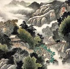 CHINESE LANDSCAPE PAINTING  (no tips or tuts, merely inspiration!) Korean Painting, Chinese Landscape Painting, Japanese Painting, Chinese Painting, Japanese Art, Landscape Paintings, Landscapes, Warring States Period, Chinese Calligraphy