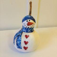Pintar Navidad muñeco de nieve adorno de decoración de calabaza