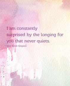 I'm not surprised by how much I miss you, but I am often surprised that this is real.