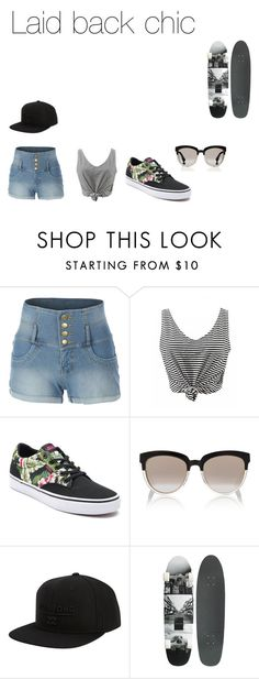 """""""Laid back chic"""" by starlord221b on Polyvore featuring LE3NO, Vans, Christian Dior and Billabong"""