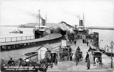 Postcard L&NW Railway Mail Steamers At Kingstown Pier - Vintage Items for Sale - The Vintage Village Melbourne Suburbs, Photo Engraving, Dublin City, Steamers, Dublin Ireland, Old Photos, Past, Roots, Irish
