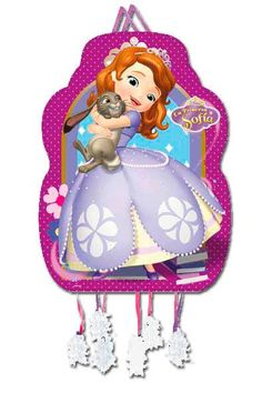 Only one thread leads to break the piñata. Pull String Piñata Sophia the First. Princess Sofia, Lunch Box, Home And Garden, Shapes, Christmas Ornaments, Holiday Decor, Party, Home Decor, Design