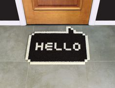 This is a fantastic 8-bit way to welcome your guests.