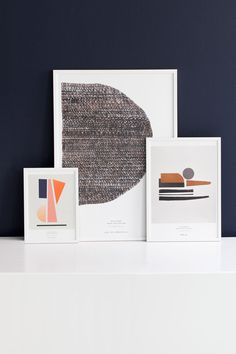 SUNSET POSTER from Skandium | www.skandium.com Sunset, hand painted textiles on print by Atelier Cph made for Stilleben Print Collection. The art prints by Atelier Cph translates fabric textures into digital art work. The hand painted textiles are cut in different abstract shapes and geometric forms and are inspired by Japanese simplicity.
