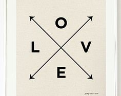 Love X Type Print - Nautical Love Print by Pretty Chic - Wall Art - Arrows