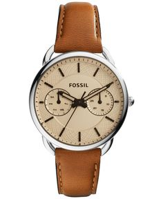 Fossil Women's Tailor Tan Leather Strap Watch 35mm ES3950