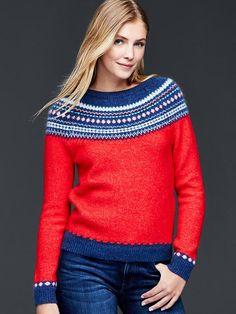 Circular fair isle sweater Product Image