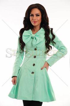 Trench, Agate, Turquoise, Sweet, Jackets, Shopping, Fashion, Moda, Fashion Styles