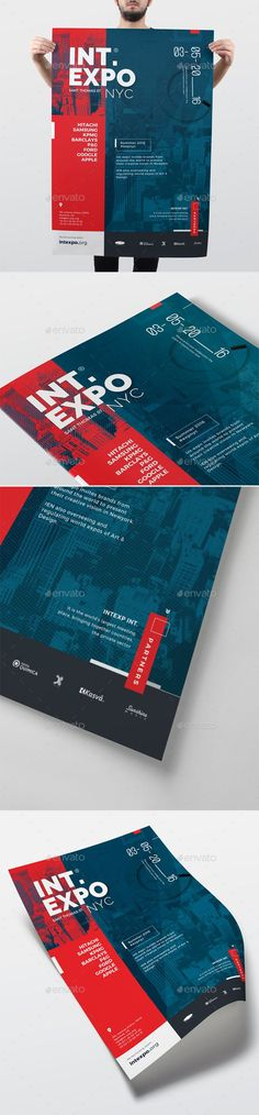 Corporate Promotional Event Poster Template PSD. Download here…