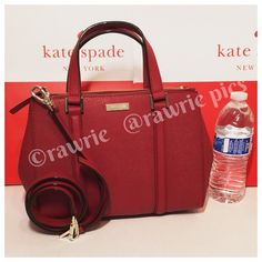 """New Kate Spade red saffiano leather loden Satchel 100% authentic. Dynasty red saffiano leather with 14-karat light gold plated hardware and protective metal feet. Three separate compartments with two zip compartments and center snap closure compartment. Handles drop 4.5"""". Longer detachable and adjustable strap. Measures 11"""" (L) x 8"""" (H) x 4.5"""" (W). Brand new with tags. Comes from a pet and smoke free home. kate spade Bags Crossbody Bags"""