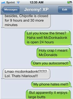 25 funniest autocorrects! these are too funny! (sorry for the foul language on some)
