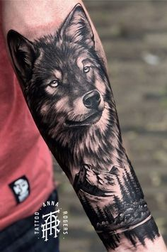 Wolf Tattoos: 50 Amazing Photos to Get Inspired – I Love Tattoos, – tattoo sleeve men Wolf Tattoos Men, Native Tattoos, Animal Tattoos, Love Tattoos, Tattoos For Guys, Couple Tattoos, Wolf Tattoo Forearm, Forarm Tattoos, Cool Forearm Tattoos